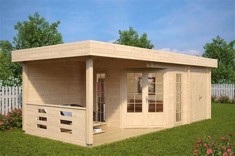 Gartenhaus Mit Terasse by Gartenhaus Mit Ger 228 Teraum Paula 12 5m 178 40mm 3x7