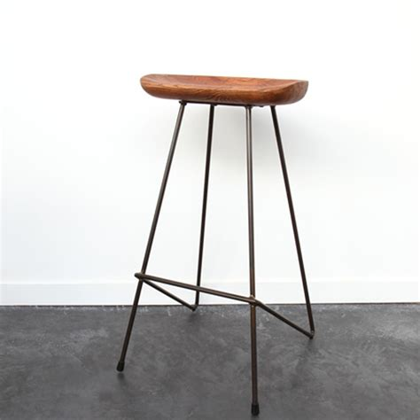 bar style table tabouret bois métal winton by drawer
