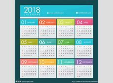 2018年年历设计图__其他_广告设计_设计图库_昵图网nipiccom