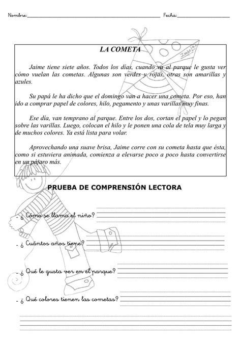 El Blog Del Maestro Jesús Fichas De Comprensión Lectora