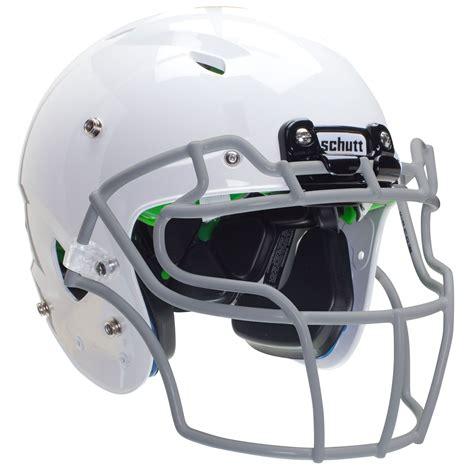 football helmet schutt vengeance a3 youth football helmet includes white helmet with grey facemask 20399