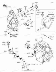 Kawasaki Side By Side 2015 Oem Parts Diagram For Oil Pump