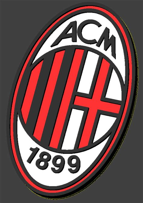 gambar logo ac milan  vina gambar