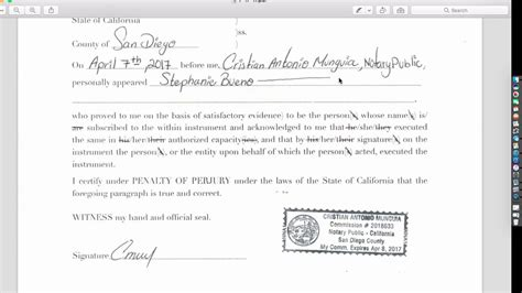 Here are 14 dissertation acknowledgements examples to inspire you. California Notary Acknowledgment - YouTube