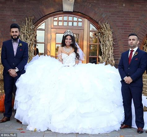 my big wedding dresses my big wedding gown is made from 1 200ft of fabric and 50 000 sewn crystals