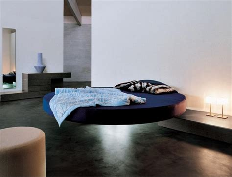 futuristic bedroom set with suspended cool floating bed fluttua c by lago digsdigs