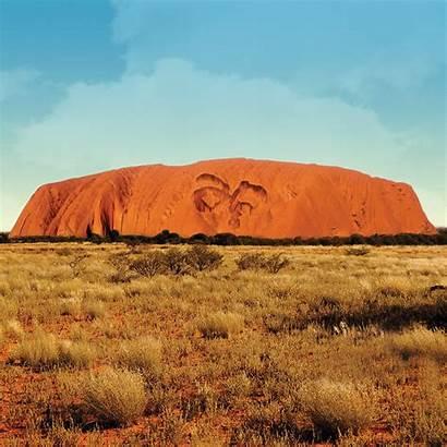 Uluru Paints Rock Sun Sunset Asian Paint
