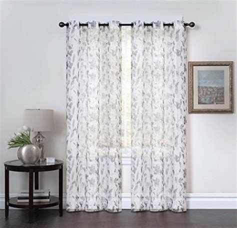 Studio 1012 Window Curtains   Set of Two Sheer Floral