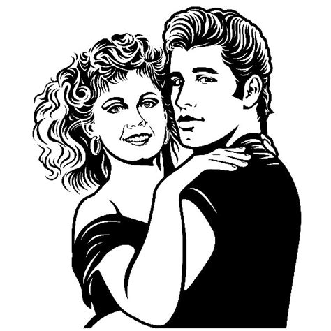 disegni da colorare riverdale vinilo decorativo grease teleadhesivo