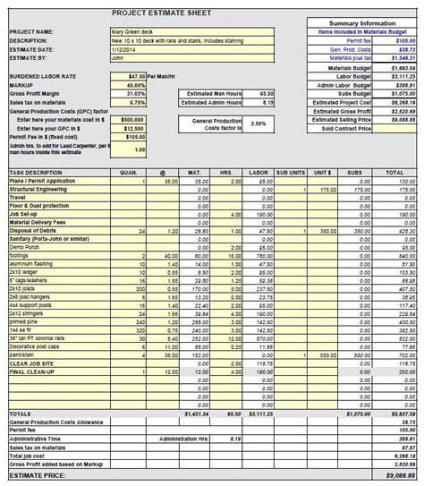yellow pad estimating  contractors  good