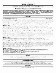 aircraft mechanic resume sample jennywasherecom With aircraft mechanic resume template