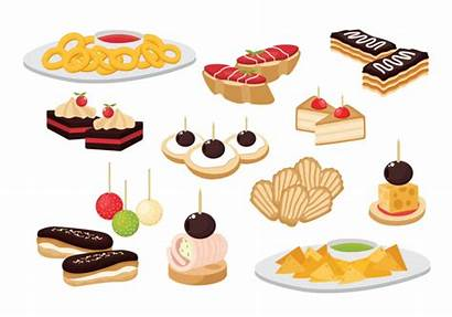 Vector Snacks Appetizer Canape Clipart Graphics