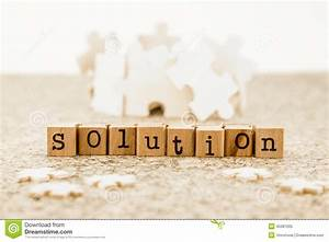 Problem Solving With Brainstorm Possible Solutions Stock