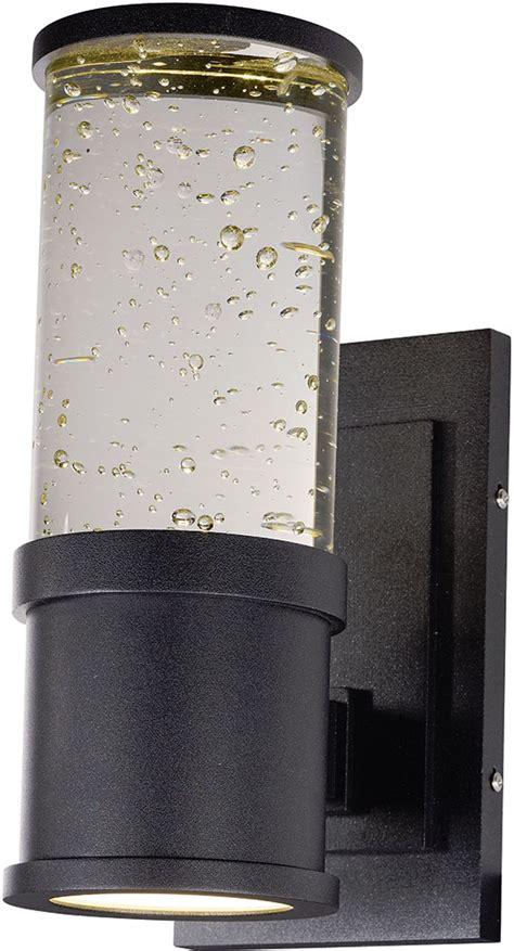 maxim 53685clgbk pillar modern galaxy black led outdoor