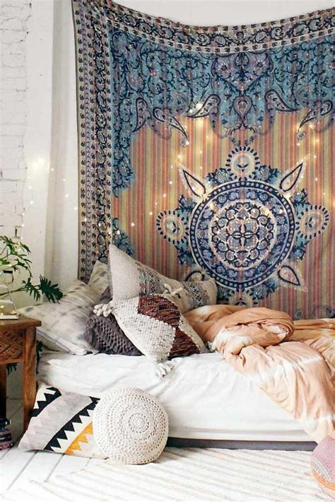 bohemian bedroom decoration ideas   house