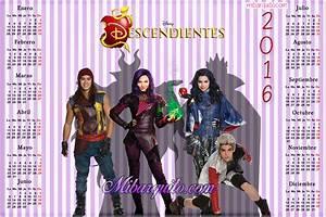 Calendario 2016 de Descendientes para descargar gratis Mi Barquito