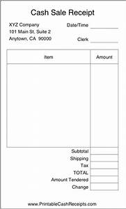 Printable Blank Invoice Template A Basic Airy Cash Receipt With Plenty Of Room To Write In
