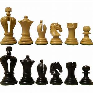 Unique, Ebony, Wood, Regal, Design, Staunton, Chess, Pieces