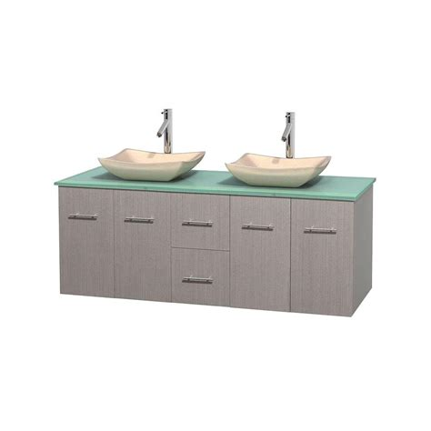 truckload kitchen cabinets wyndham collection centra 60 in vanity in gray oak 6387