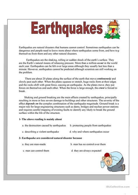 esl nature worksheets