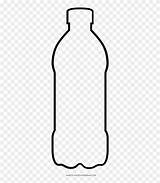 Bottle Coloring Clipart Water Plastic Pages Glass Pinclipart Pngio sketch template