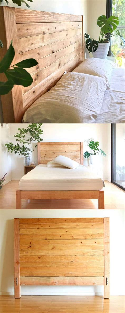 How To Make A King Size Headboard by Easy And Beautiful Wood Diy Headboard A Of Rainbow
