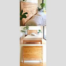 Easy And Beautiful Wood Diy Headboard  A Piece Of Rainbow