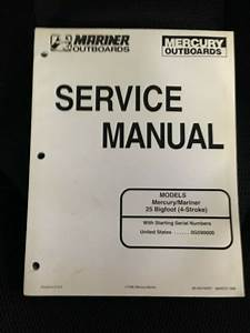Mercury Outboards Mariner Service Manual 25 Bigfoot  4