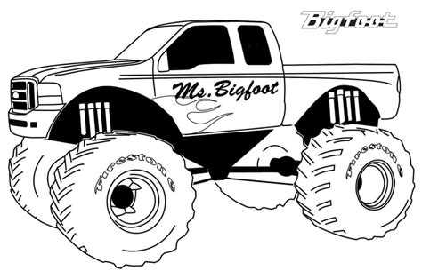 what happened to bigfoot the monster truck 10 monster jam coloring pages to print