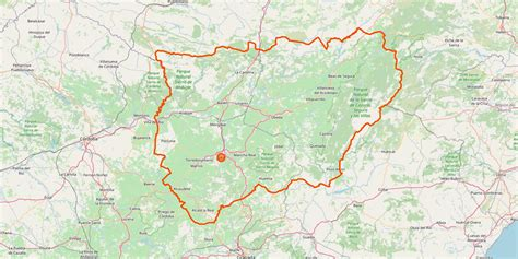 Karte Provinz Jaén mit sehenswerten Orten • Reisen nach ...