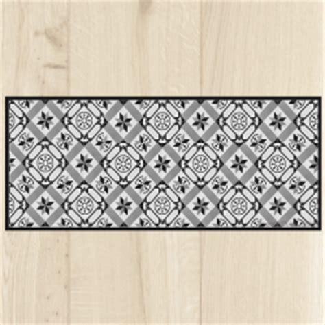tapis de cuisine gris design paillasson de cuisine carreaux de ciment côté paillasson