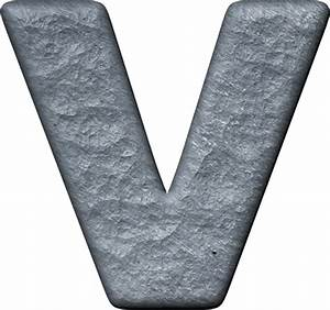 Presentation alphabets rough metal letter v for Metal letter v