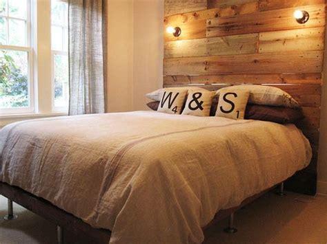 diy reclaimed wood headboard 14 inspiring diy projects featuring reclaimed wood furniture