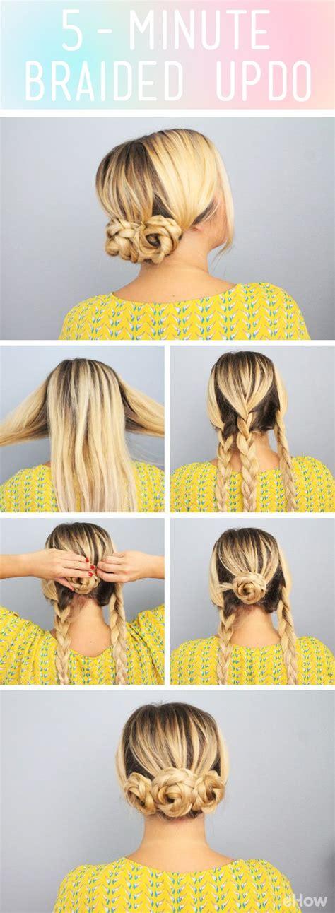 5 minute hair styles best 25 5 minute hairstyles ideas on 1042