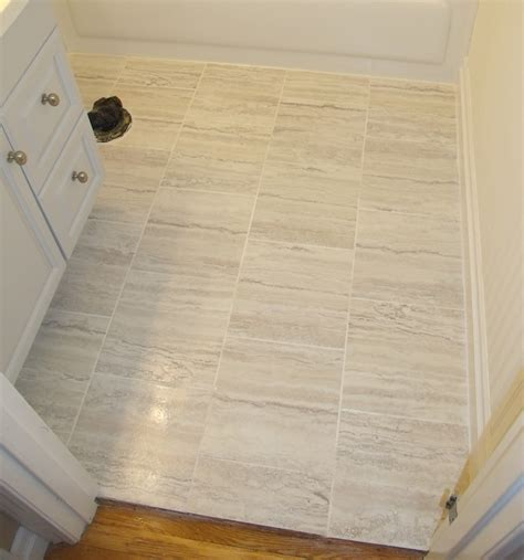 Bathroom Floor Grout Drying Using Peel And Stick Tile On