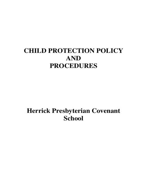 safeguarding policy template   templates