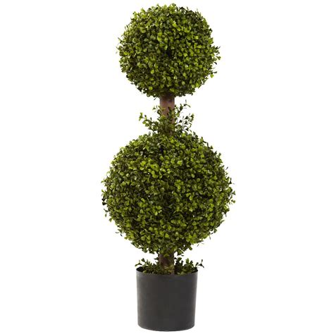 35 quot silk double boxwood topiary artificial trees silk