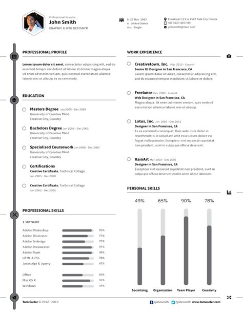 free two column resume template 187 designtube creative