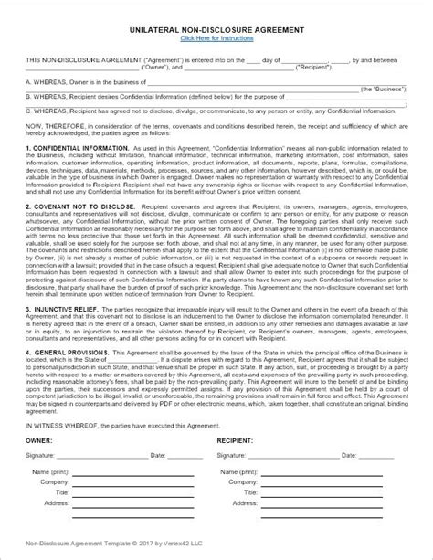 Nda Template 25 Best Ideas About Non Disclosure Agreement On
