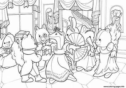 Calico Coloring Critters Pages Sylvanian Celebration Printable