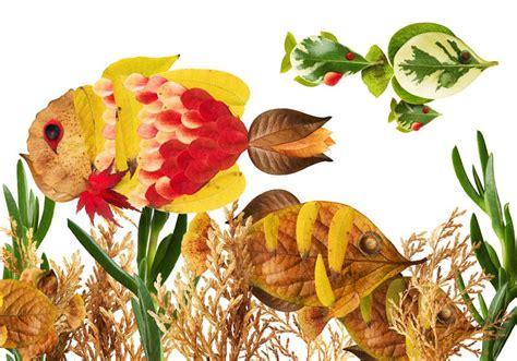 creative leaf animal art