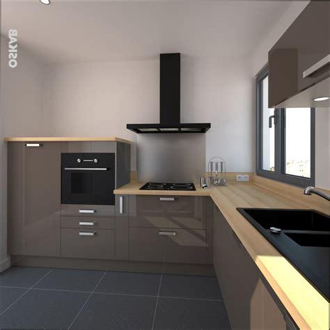 plan de travail cuisine bois cuisine bois cuisine taupe et plan de travail bois