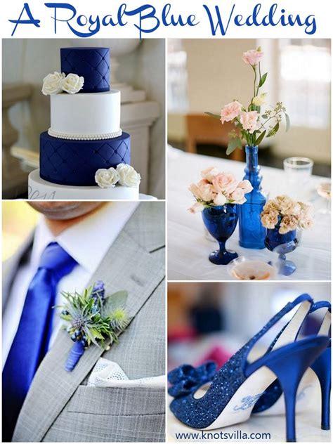 cobaltroyal blue silver  white wedding