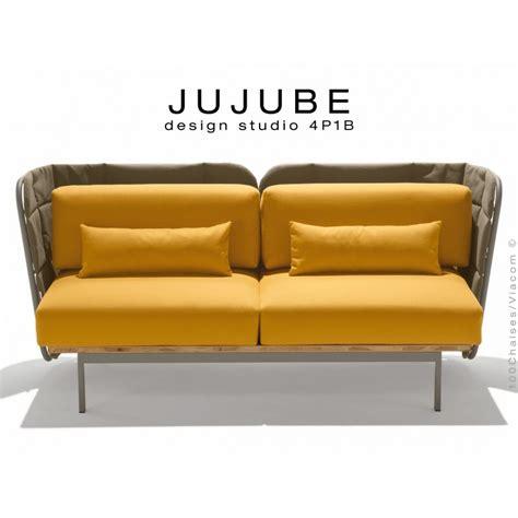 coussin d assise pour canapé fauteuil design pour extérieur jujube structure acier