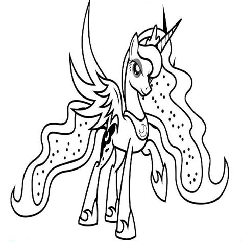 pony coloring pages princess luna coloring