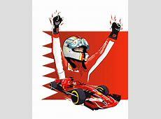 2018 Bahrain GP Illustration Sebastian Vettel formula1