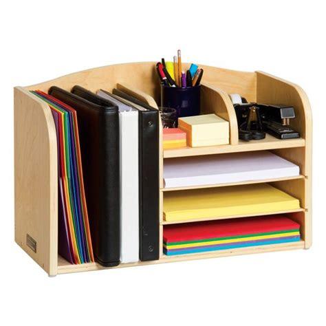 binder organizer for desk teacher 39 s assistant desktop organizer all wood organizer