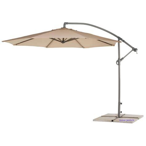 parasol centre d 233 port 233 viena 3 m 232 tres d 233 sign toile beige aluminium pas cher