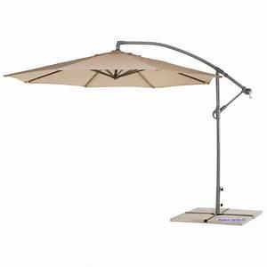 Parasol Déporté Aluminium : parasol centre d port viena 3 m tres d sign toile beige aluminium pas cher ~ Teatrodelosmanantiales.com Idées de Décoration