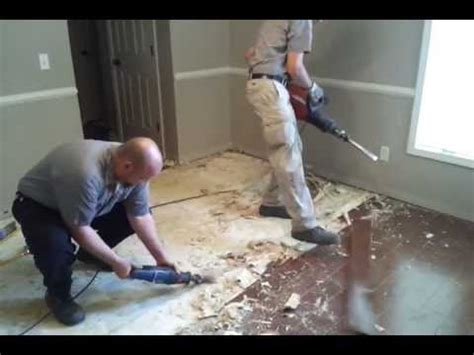 Glue Down Carpet Removal Machine by Removing Glued Down Wood Floor From Concrete Youtube